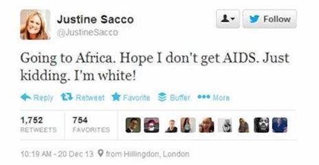 Comentario Racista de Sacco